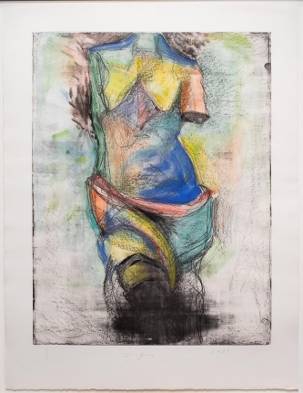 Jim Dine, The French Watercolor Venus, Mixed media, Etching