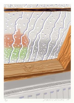 David Hockney, Rain on the Studio Window