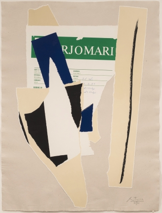 Robert Motherwell, America-La France Variations IX, Lithograph and collage