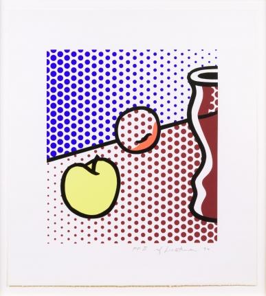 Roy Lichtenstein, Still Life with Red Jar, Screenprint