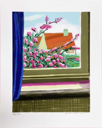 David Hockney, Untitled (no. 778), April 17, 2011, iPad drawing