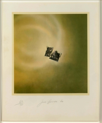 Joe Goode, Photo Cloud (Green), Lithograph