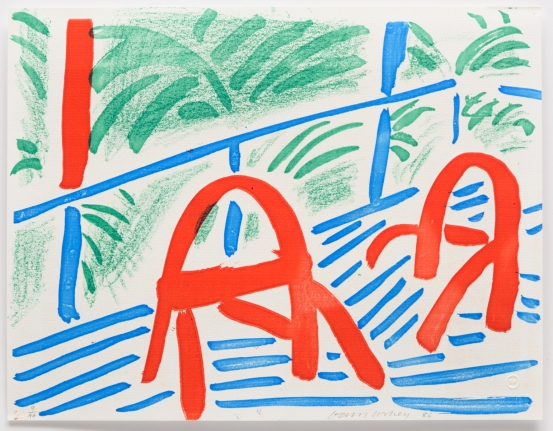 David Hockney, Two Red Chairs, March 1986