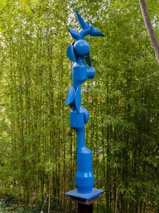 Edoardo Villa, Lindo (Blue), Steel Sculpture