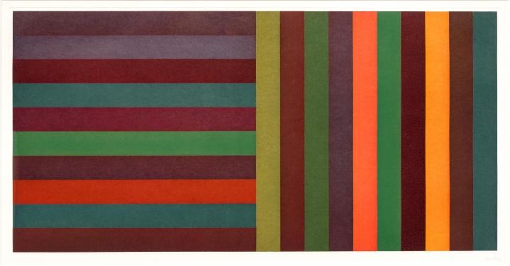 Sol LeWitt, Horizontal Color Bands, Etching and Aquatint