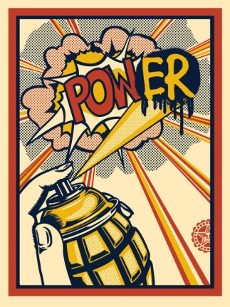 Shepherd Fairey, Pow(er) print, screenprint