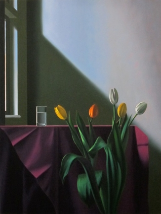 Bruce Cohen, Purple Tablecloth, Oil on Canvas