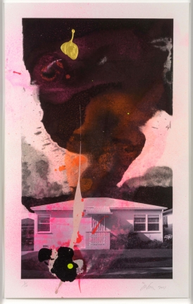 Joe Goode, House Tornado, Lithograph