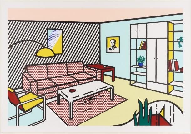 Roy Lichtenstein, Modern Room, Lithograph, woodcut and screenprint