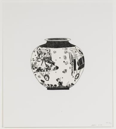 Jonas Wood, Untitled from 8 Pots, 2017 (WO114)