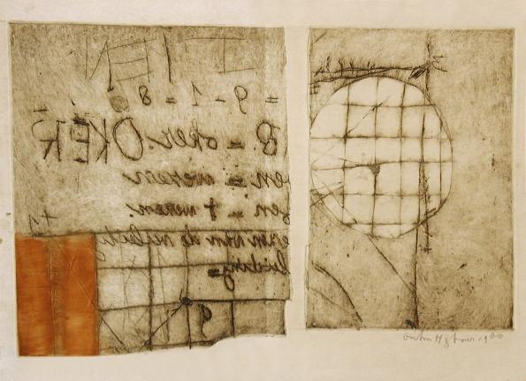 Anton Heyboer, Tien =9-1=8, etching