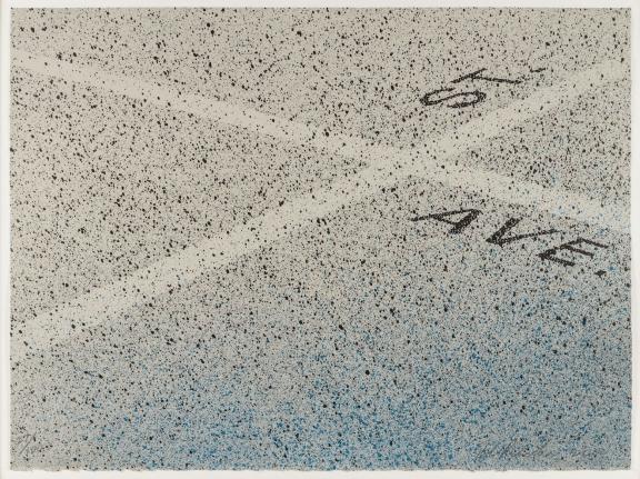 Ed Ruscha, Street Meets Avenue, 2000, Lithograph