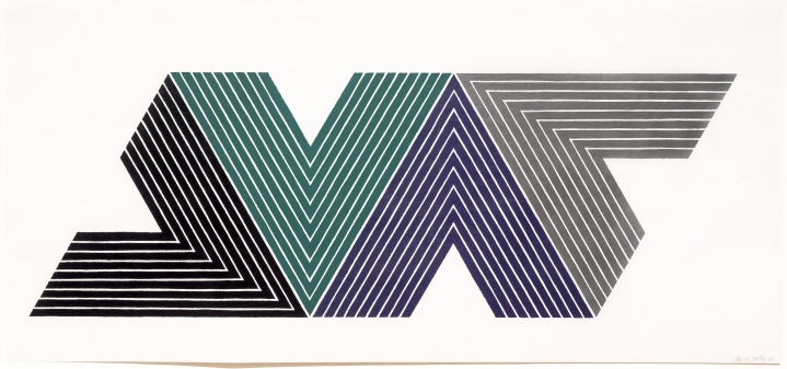 Frank Stella, Empress of India I, from V series, Lithograph