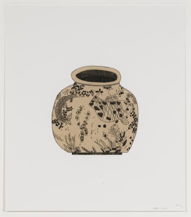 Jonas Wood, Untitled from 8 Pots, 2017 (WO110)