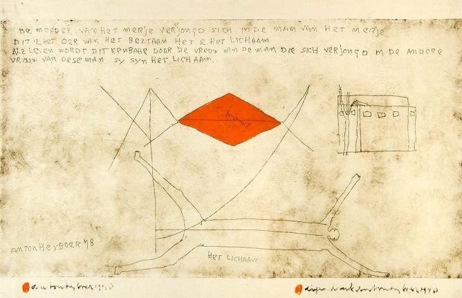 Anton Heyboer, Het Lichaam, Etching and mixed media