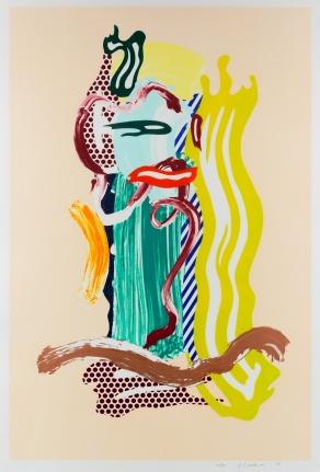 Roy Lichtenstein, Portrait, from Brushstroke Figure Series, Lithographs