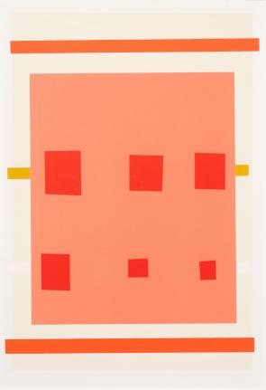 Imi Knoebel, Untitled (Pink), Lithograph