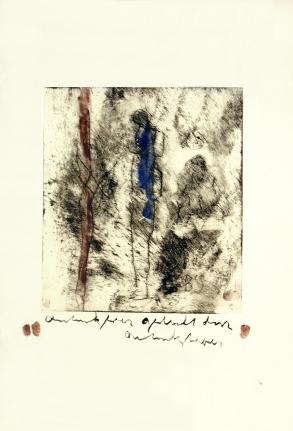 Anton Heyboer, Untitled - Man in Blue, Etching