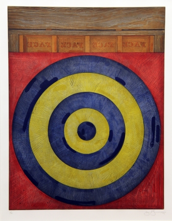 Jasper Johns, Target with Four Face, Intaglio