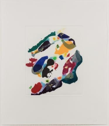 Sam Francis, Untitled, 1995, Aquatint, Signed, Print