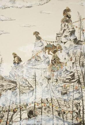 Amy Cutler, Widows Peak, 2011, Lithograph