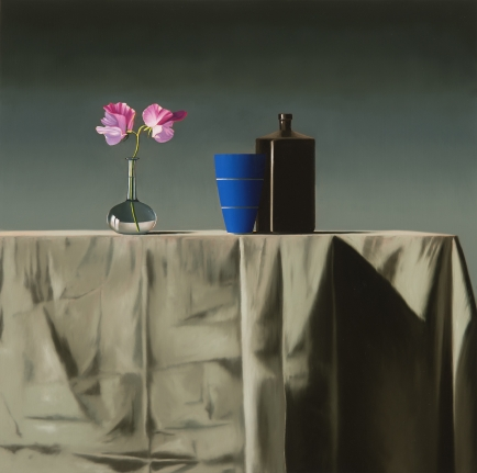 Bruce Cohen, Still Life with Sweet Peas and Two Vessels