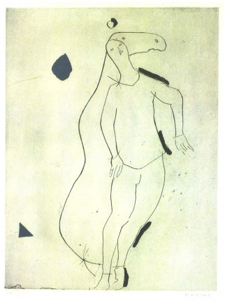 Marino Marini, La Sorpresa I, Etching drypoint and aquatint