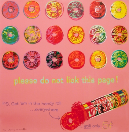 Life Savers, from Ads, Screenprint