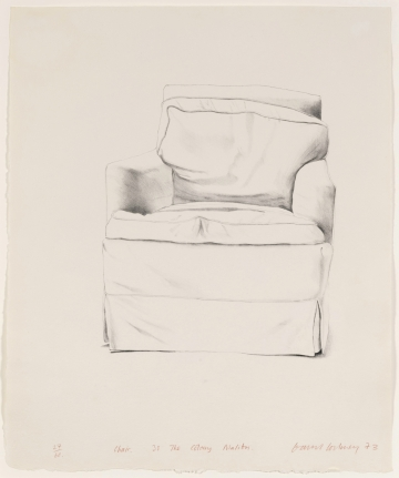 David Hockney, Chair, 38 The Colony, Malibu, 1973, Lithograph