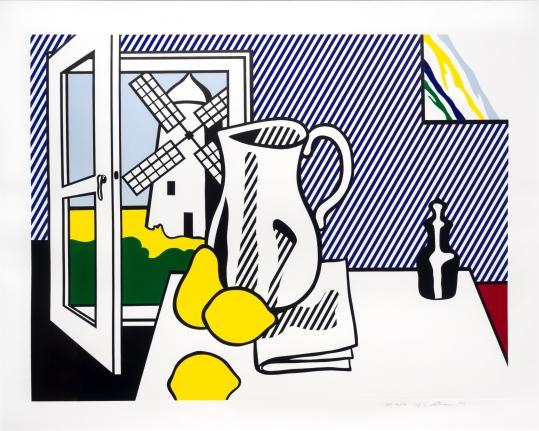 Roy Lichtenstein, Still Life with Windmill, Lithograph