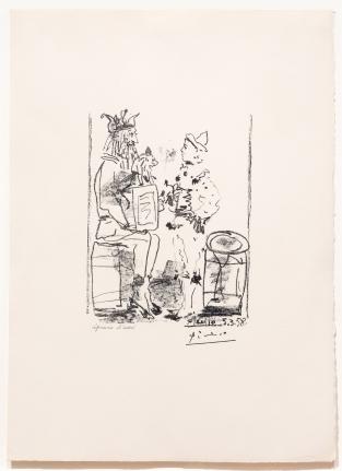 Pablo Picasso, Les Saltimbanques, Cannes, Lithograph