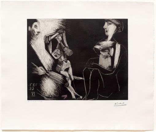 Pablo Picasso, Homme avec Deux Femmes, 347 Series