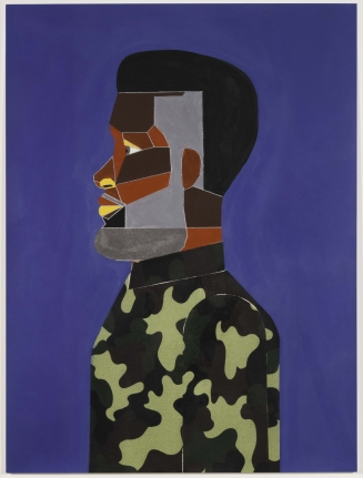 Derrick Adams, Man in Tidal Blue, 2017, Pigment print