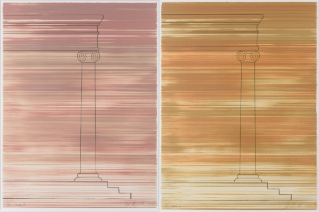 Ed Ruscha, Roadrunner State I and State II, Lithograph
