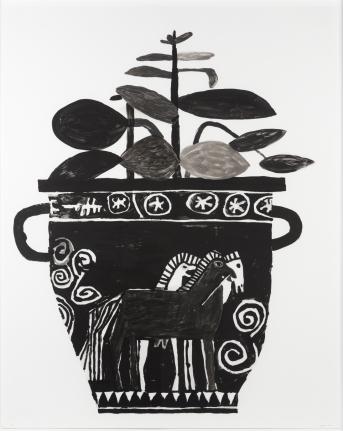 Jonas Wood, Untitled, 2010, Monoprint with handpainting (WO103)