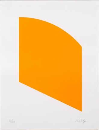 Ellsworth Kelly, Orange (Curve), Lithograph