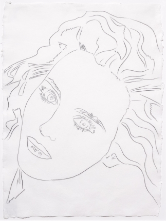 Andy Warhol, Portrait of Isabelle, Drawing