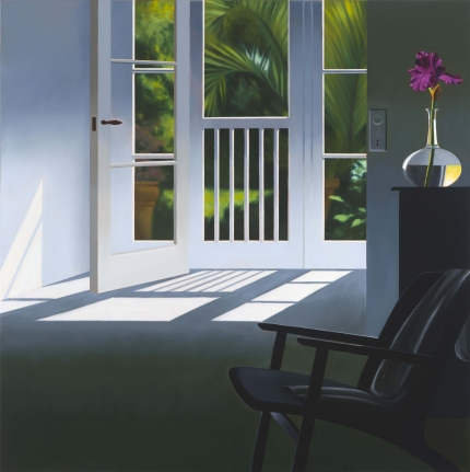 Bruce Cohen, Interior with View of Garden, Oil on canvas