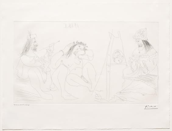 Pablo Picasso, Raphael et la Fornarina, 347 Series, Etching