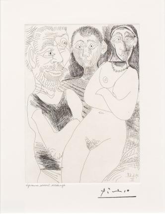 Pablo Picasso, Prostitutee et Marins, 347 Series, Etching