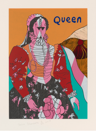 Yinka Shonibare, Queen II, from Unstructured Icons, 2018, Relief print