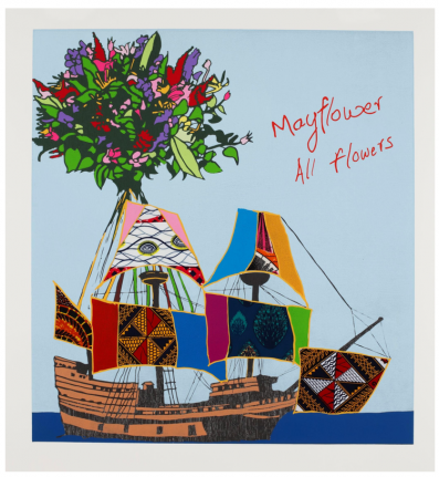 Yinka Shonibare, Mayflower All Flowers, 2020, Relief print