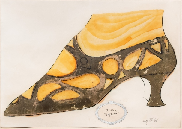 Andy Warhol, Anna magnani, Shoe drawing
