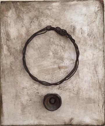 Hannes Harrs, Untitled, Oil wire and metal