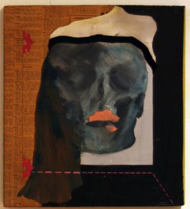 Michele Kaufman, Untitled, Oil and mixed media on masonite