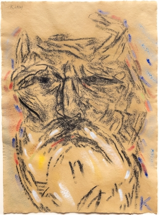 R.B. Kitaj, Self Portrait, Drawing