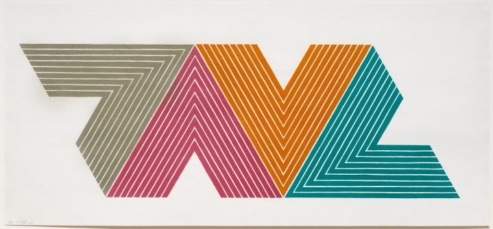 Frank Stella, Empress of India II, from the V Series, Lithograph