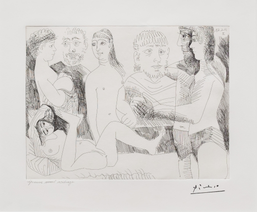 Pablo Picasso, Femme Faisant, 347 Series, Etching