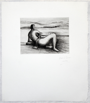 Henry Moore, Reclining Figure, Etching