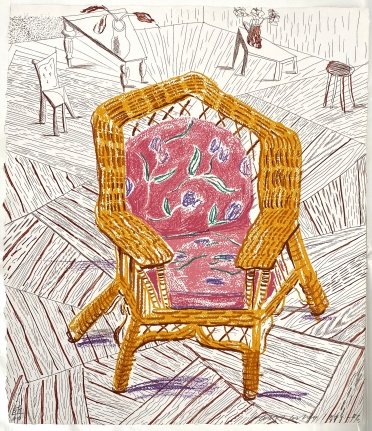 David Hockney, Number One Chair, from Moving Focus, 1985-86, Lithograph and etching